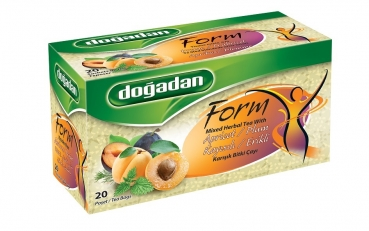 DOGADAN Form Tee Gemischter Kräutertee mit Aprikosen & Pflaumen (Karışık Kayısılı Çay)