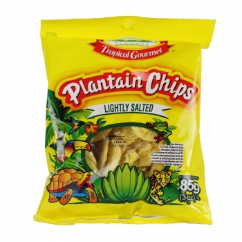 Tropical Gourmet Plantain Koch Bananen Chips leicht gesalzen (Salted) Bananenchips - Hafif tuzlu Muz Chips 85 g
